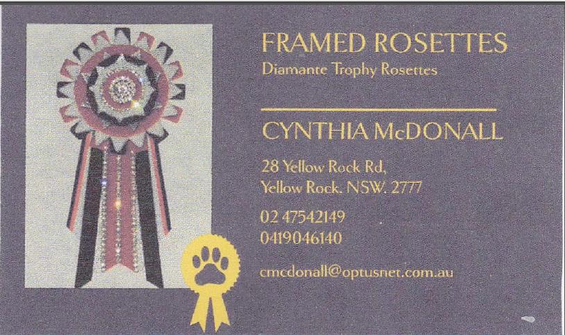 sponsor logo: Framed Rosettes by Cynthia McDonall